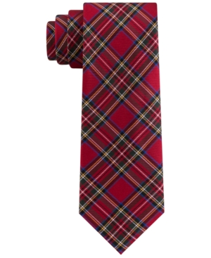 Tommy Hilfiger Men's Assorted Holiday Plaid Slim Ties