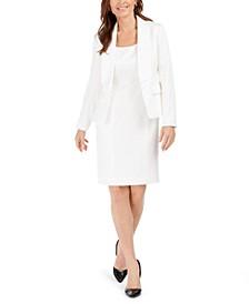 Tonal-Print Shawl-Lapel Blazer & Sheath Dress