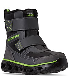 Little Boys S Lights Hypno-Flash 2.0 Street Breeze Light Up Adjustable Strap Boots from Finish Line