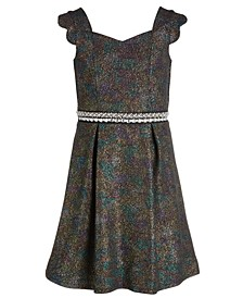 Big Girls Embellished Metallic Dress