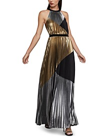 Metallic Colorblocked Gown