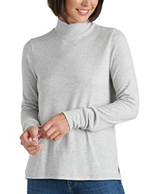 Mock-Neck Cloud Jersey Top
