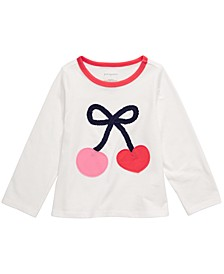 Baby Girls Cherries-Print Cotton T-Shirt, Created For Macy's