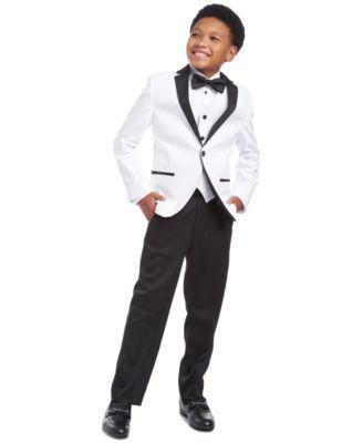Big Boys Classic-Fit White Sateen Vest