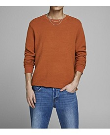 Men's Cotton Crew Neck Long Sleeve Sweater