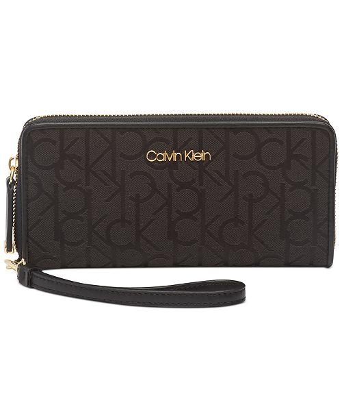 Calvin Klein Signature Zip-Around Wallet
