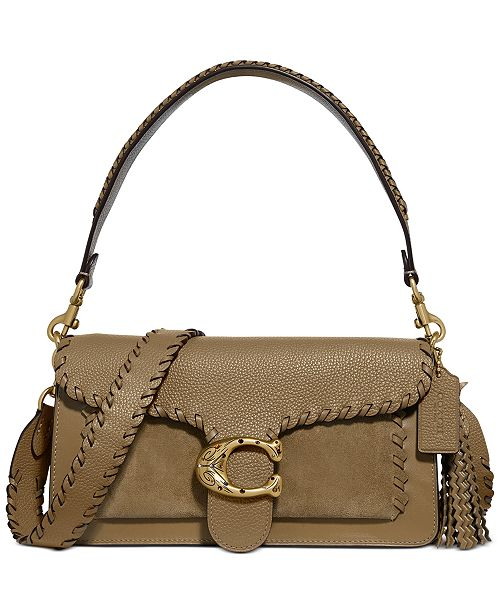COACH Whipstitch Mixed Leather With Etched C Closure Tabby Shoulder Bag 26