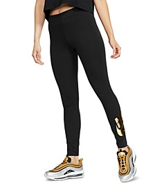 Women's Sportswear Leg-A-See Metallic-Logo Leggings