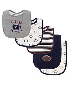 Boy 5-Piece Bib and Burp Cloth Set