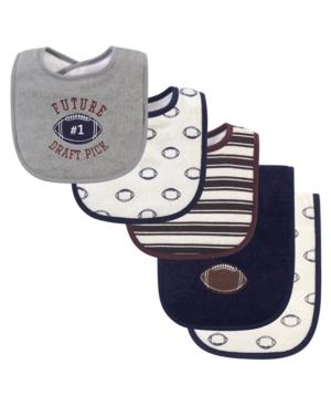 Hudson Baby Boy 5-Piece Bib and Burp Cloth Set