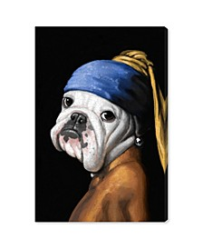 "Carson Kressley - Dog with The Pearl Earring Canvas Art - 36"" x 24"" x 1.5"""