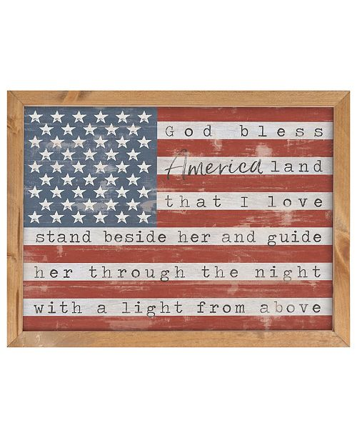 P Graham Dunn God Bless America Land That I Love Wall Art