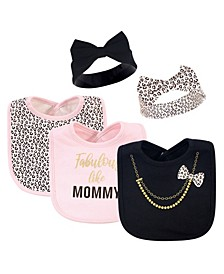 5-Piece Bib and Headband Set