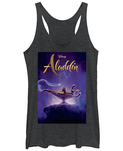 Disney Juniors' Aladdin Aladdin Live Action Cover Tri-Blend Tank Top
