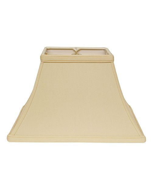 Cloth&Wire Slant Rectangle Bell Hardback Lampshade with Washer Fitter