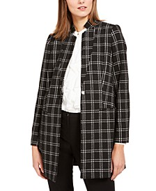 Plaid Button Topper Jacket
