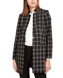 Plaid Button Topper Jacket