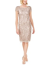 Embellished Soutache Sheath Dress, Created for Macy's