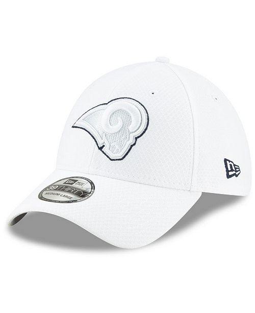 New Era Los Angeles Rams On-Field Platinum 39THIRTY Stretch Fitted Cap