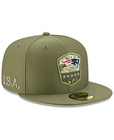 New England Patriots On-Field Salute To Service 59FIFTY Fitted Cap