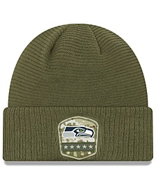 Seattle Seahawks On-Field Salute To Service Cuff Knit Hat