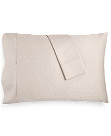Bergen House Woven Diamond Dot Standard Pillowcases 1000-Thread Count 100% Certified Egyptian Cotton