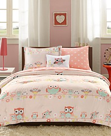 CLOSEOUT! Wise Wendy Blush 6-Piece Reversible Twin Comforter Set