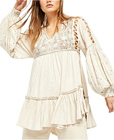 Much Love Embroidered Tunic Top