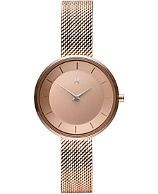 Women's Mod RG1 Rose Gold Ion-Plated Steel Mesh Bracelet Watch 32mm