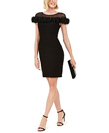 Illusion-Neck Sheath Dress