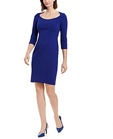 U-Neck Sheath Dress
