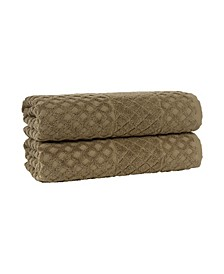 Glossy Turkish Cotton 2-Pc. Towel Set