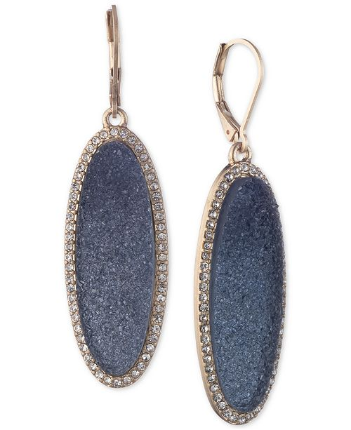 lonna & lilly Gold-Tone Pavé & Stone Drop Earrings