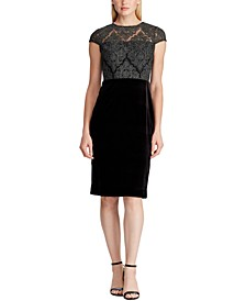 Lace-Bodice Velvet Dress