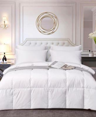 Light Warmth White Down Fiber Comforter, Full/Queen
