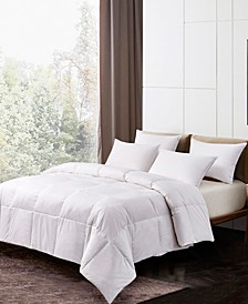 Light Warmth White Goose Feather and Down Fiber Comforter, Twin