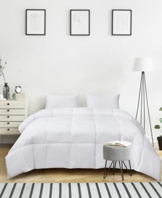 Ultra-Soft Nano-Touch All Season White Down Fiber Comforter, Twin