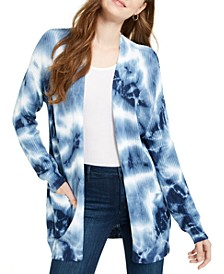 Juniors' Tie-Dyed Cardigan
