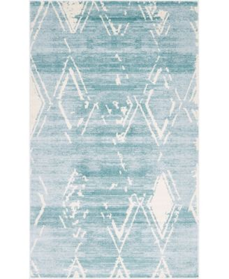 Carnegie Hill Uptown Jzu006 Turquoise 5' x 8' Area Rug