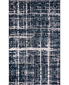 Lexington Avenue Uptown Jzu003 Navy Blue 5' x 8' Area Rug