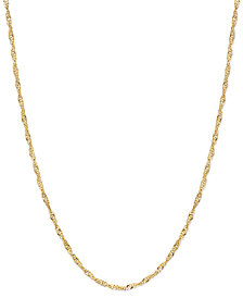 "20"" Singapore Chain Necklace (1-1/2mm) in 14k Gold"