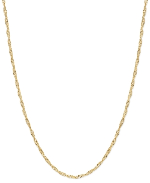 "30"" Singapore Chain Necklace in 14k Gold"