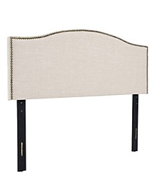 Amanda Upholstered Radius Headboard, Full/Queen