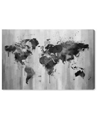 Mapamundi Black and White Canvas Art, 36