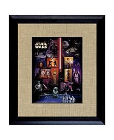 "Star Wars U.S. Stamp Sheet in Wood Frame, 16"" X 14"""