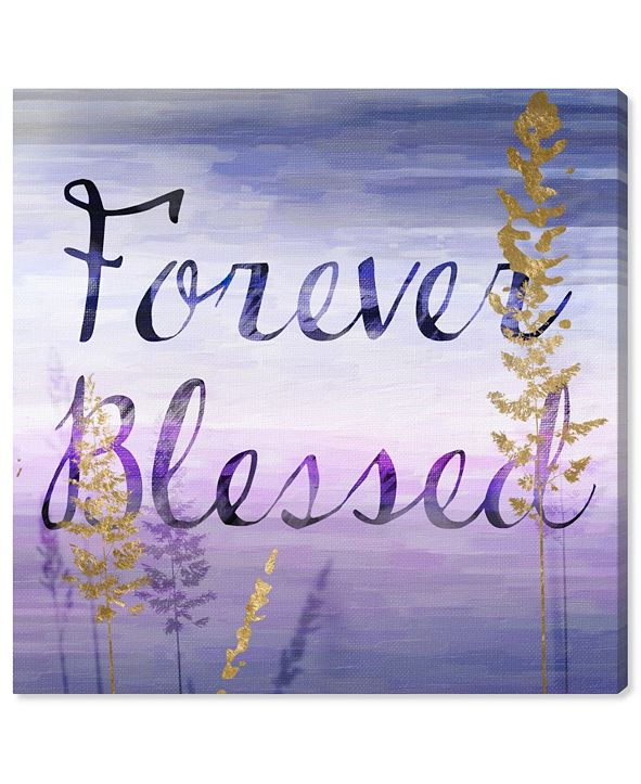 """Oliver Gal Forever Blessed Lilac Canvas Art, 43"""" x 43"""""""