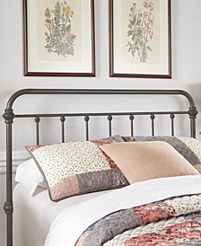 Calvados Antique Metal Headboard, Queen