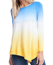 Long Sleeve Dip Dye T-Shirt