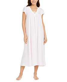 Jacquard Knit Long Nightgown
