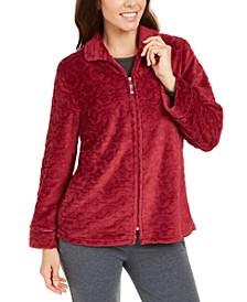 Jacquard Fleece Bed Jacket